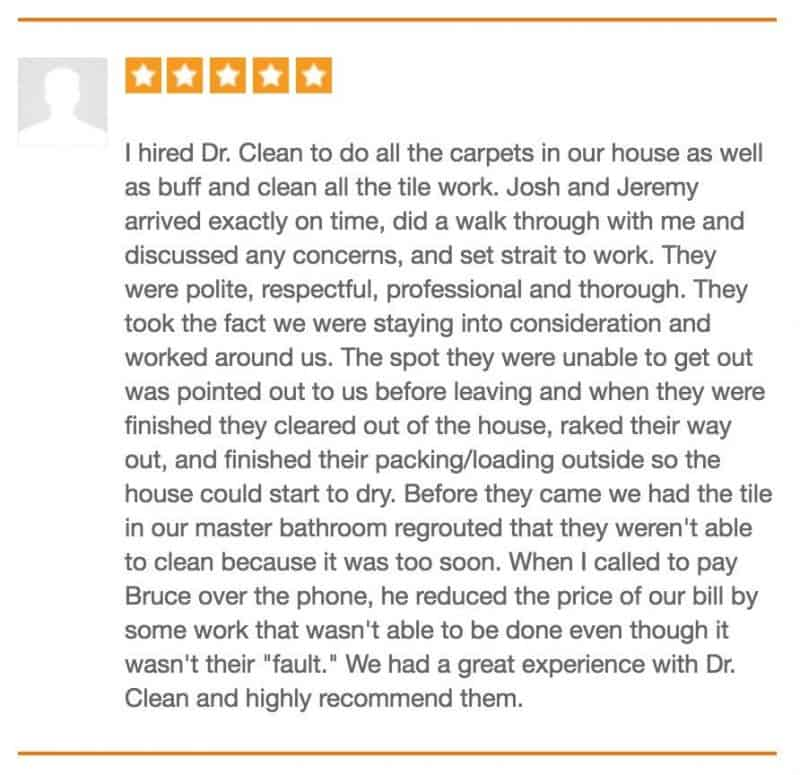 Mary's Review of Dr. Clean on Thumbtack