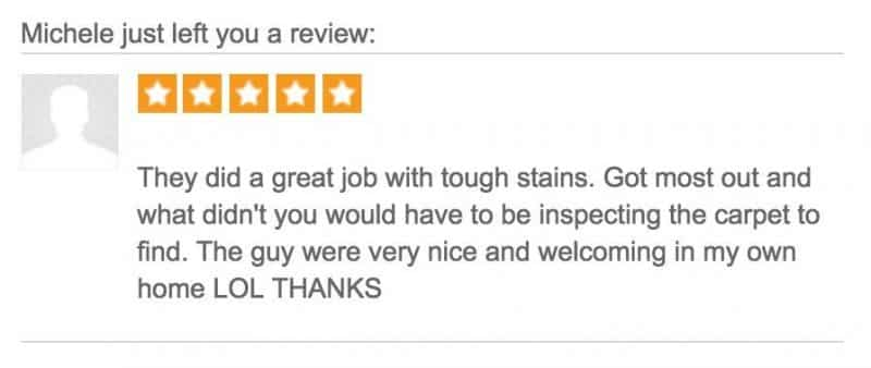 Michele's Review of Dr. Clean on Thumbtack